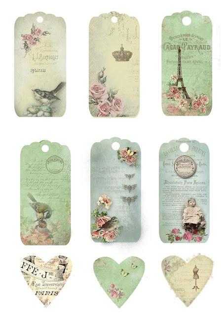 Imprimibles maravillosos: Tags, Craft, Vintage Labels, Vintage Printables, Paper, Free Printables