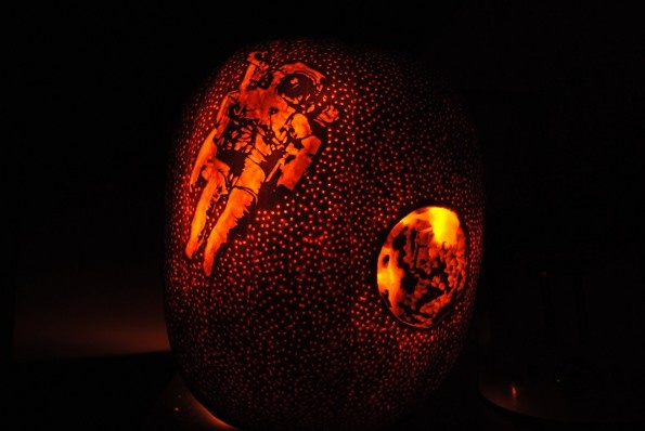 Outer space Pumpkin Carving // by Smith | inspire me ...
