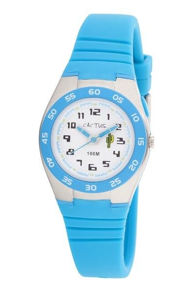 Cactus - Watch 100m Water Resistant Backlight Blue (CAC-75-M03) || A water resistant watch so we don't loose track of time at the beach. Reapply the sunscreen. Time to Eat. Mum said come out of the water in 20 minutes. #PinToWin #EntropyWishList