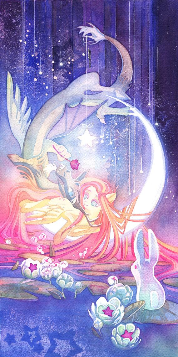 Fluttershy & Discord MLP My Little Pony 10x20 Poster