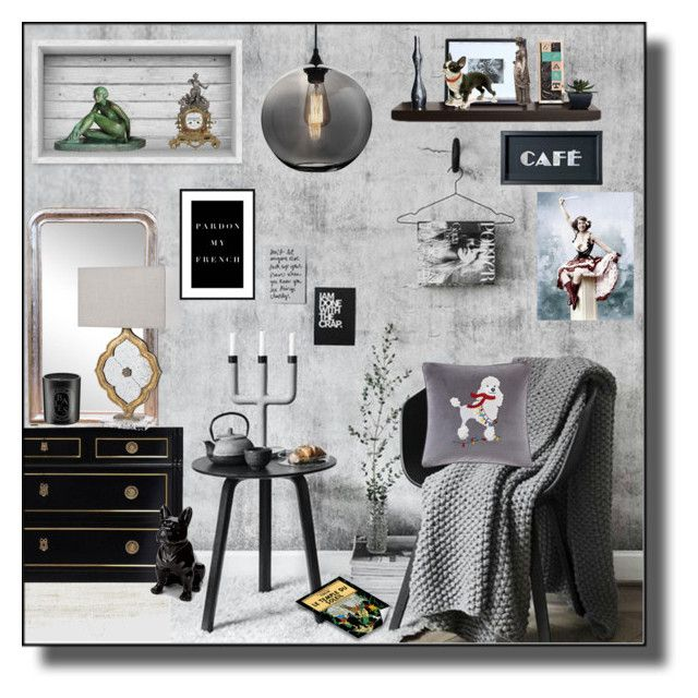 """""""French Breakfast Room"""" by kelly-floramoon-legg ❤ liked on Polyvore featuring interior, interiors, interior design, home, home decor, interior decorating, WALL, The Adventures Of Tintin, Torre & Tagus and Madison Park"""