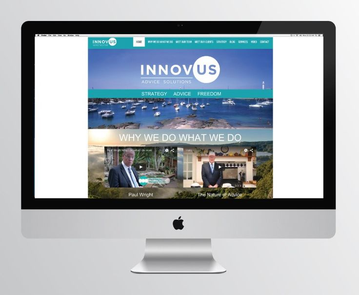 Innovus Advice Solutions Website Design and Logo Design by Emma Wright