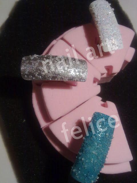 nail art effetto ghiaccio con il sale_02