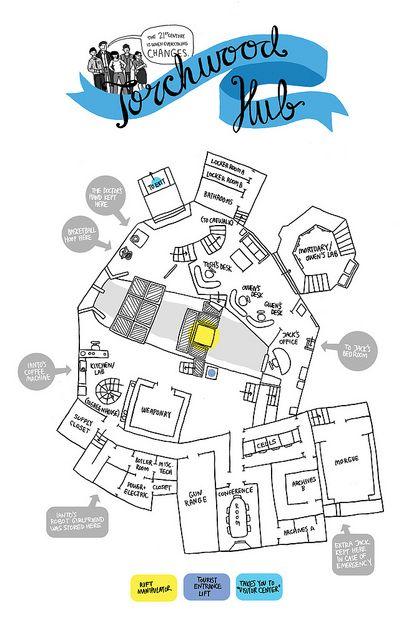 Torchwood Hub Map by aimeefleck, via Flickr