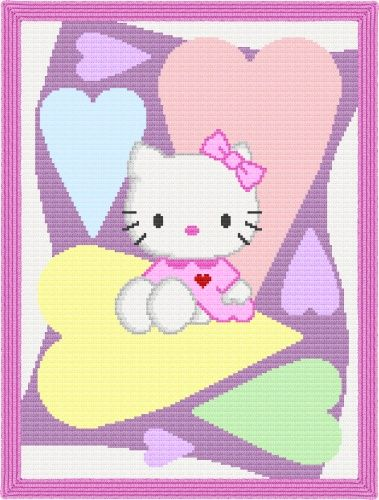 Hello kitty blanket pattern - $4.50 @Gina Gab Solórzano ... I might have to make this!