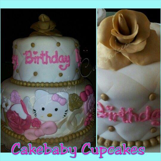 Custom Hello Kitty Themed Cake In Red Velvet For A
