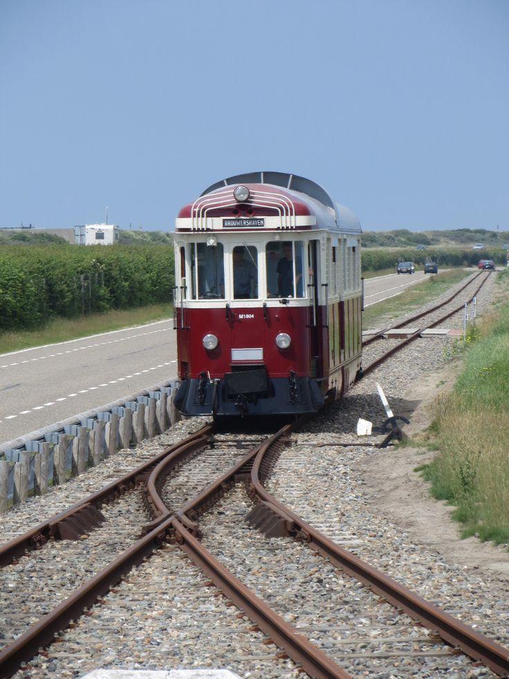 Omloop bij het eindstation om de trein er weer voor te zetten.
