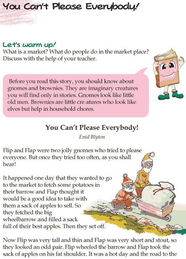 Grade 4 Reading Lesson 6 Short Stories You Cant Please Everybody