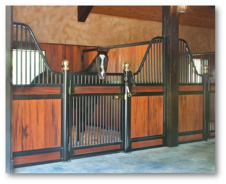 Horse barns and stalls barn building 101 stall fronts for Four stall horse barn