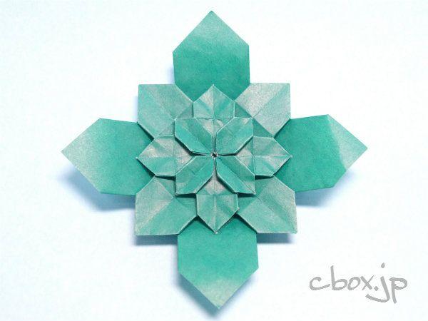ハート 折り紙:折り紙すずらん折り方-pinterest.com