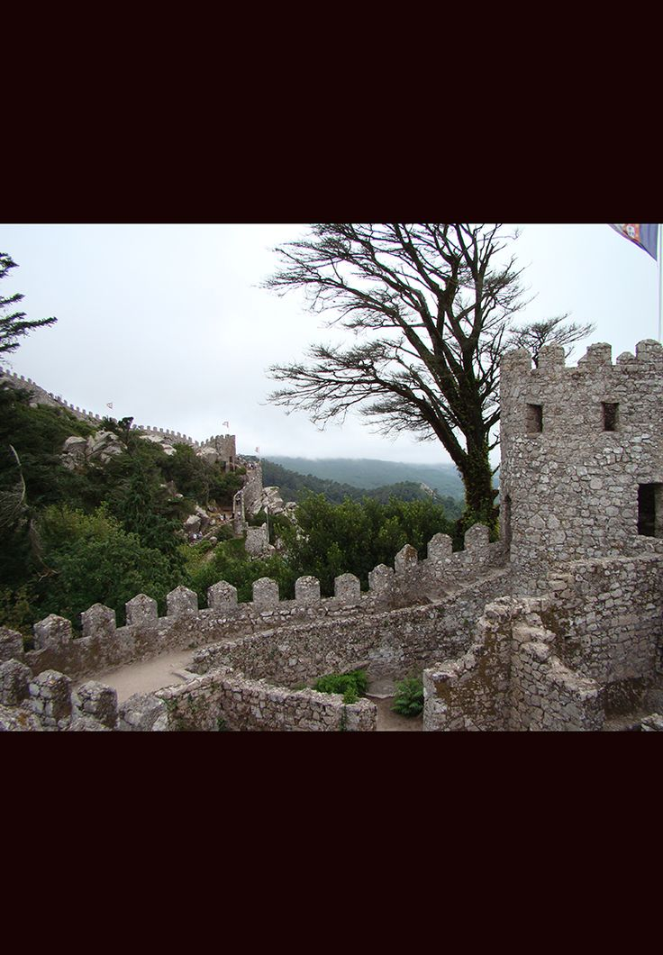 Castelo dos Mouros, #Sintra, #Portugal. Constructed by the #Arabs in the 8th and 9th c., it was used by the kings of #Portugal following the conquest of Lisbon (1147), till around the end of the 15th century, #history, #architecture, #archaeology, #medieval