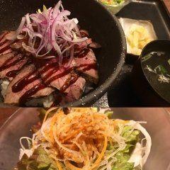 東京ランチでガッツリ食べられる店といえば池袋駅近くにある勇里庵 ランチタイムで一番人気のメニューがローストビーフ丼定食 大きめのお皿のような丼にローストビーフ丼がのってサラダ小鉢スープライスの大盛りがついていますよ 味は間違いないしこれで980円は絶対お得だと思います tags[東京都]