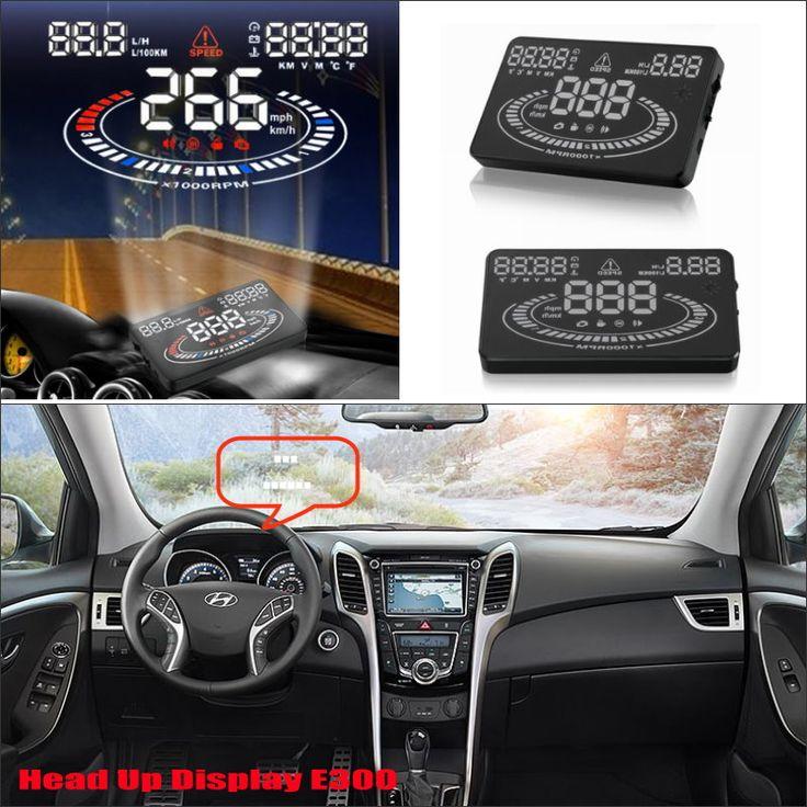 Car HUD Head Up Display For Hyundai Elantra / Santa FE / Sonata 2015 2016- Safe Driving Screen Projector Refkecting Windshield