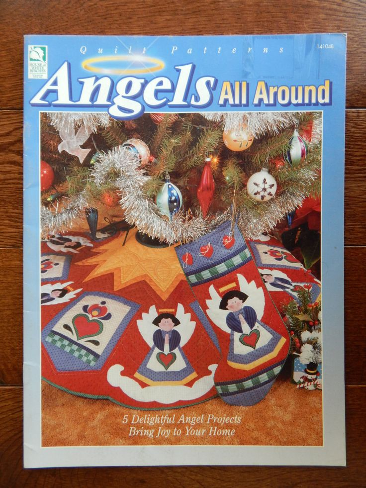 Angel Quilting Patterns/ Angels All Around byJodi Warren/tree skirt, stocking, Pillow, wall hanging, penn dutch pillow by RedWickerBasket on Etsy