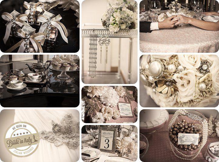 Great Gatsby inspired 20s vintage theme, by MissWeddingDesign & Sweetness Eventi, ph Elena Preti http://www.brideinitaly.com/2013/11/missweddingdesignanneesfolles.html #italianstyle #wedding