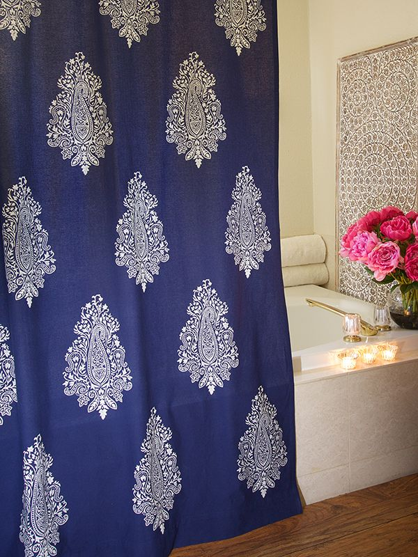 Best 25 Navy Blue Shower Curtain Ideas On Pinterest