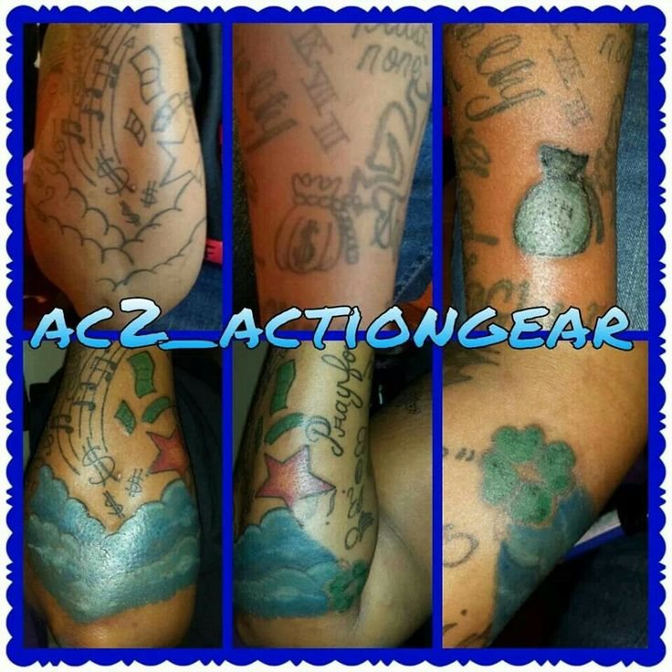 I just did the coloring on this tattoo that's it money star clouds money bag  tattoo