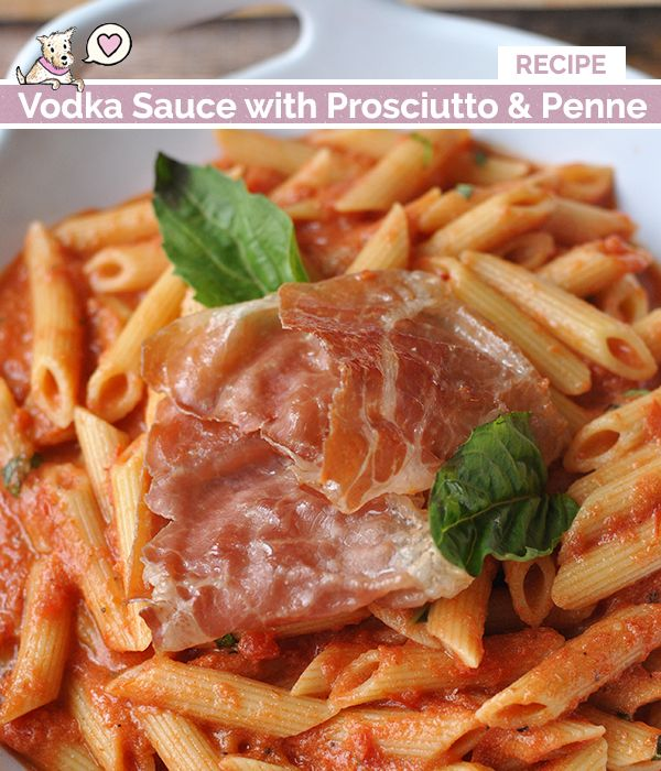 Vodka Sauce with Prosciutto and Penne | Vodka Sauce, Vodka and ...