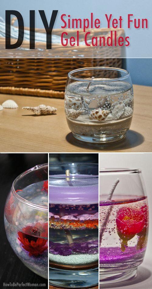 DIY Simple Yet Fun DIY Gel Candles