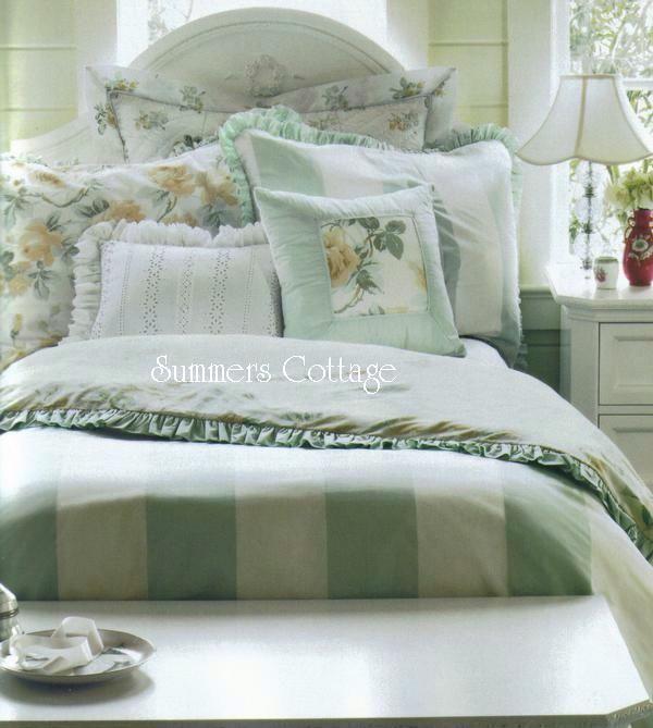 Full Queen Rachel Ashwell Shabby Chic Ruffles Roses Cabana Stripe Duvet Comforter Cover Set Shabby Chic Bedrooms Rachel Ashwell Shabby Chic Vintage Shabby Chic Bedroom