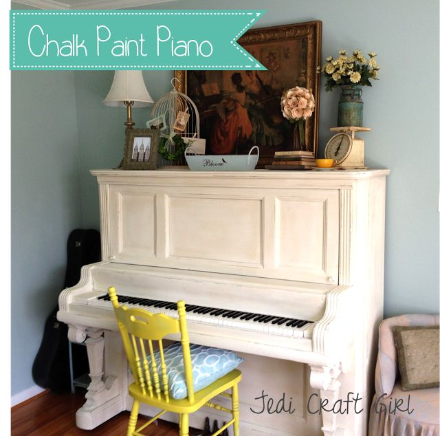 Jedi Craft Girl: Chalk Paint Piano