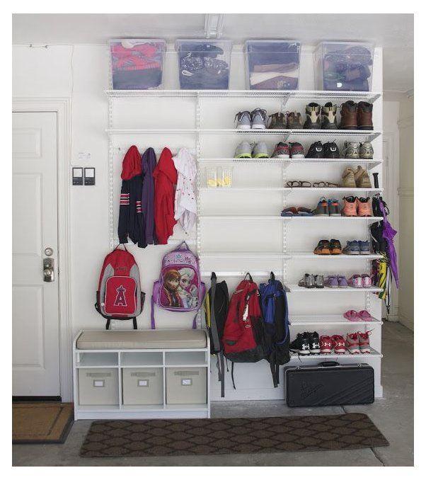 Garage Storage Shelves Shoe, Garage Shoe Organization Ideas