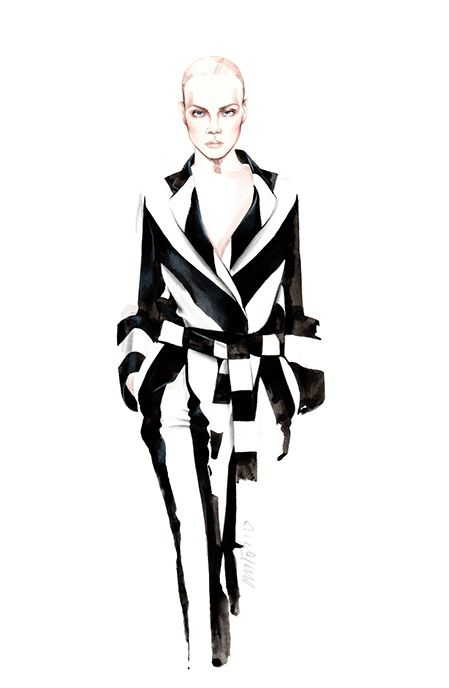 Miguel Vieira SS 2016 fashion illustration by António Soares
