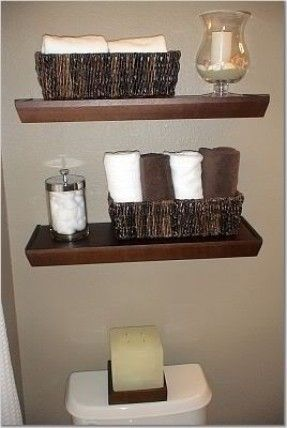 21 best bathroom shelves ideas images on pinterest - Bathroom storage baskets shelves ...