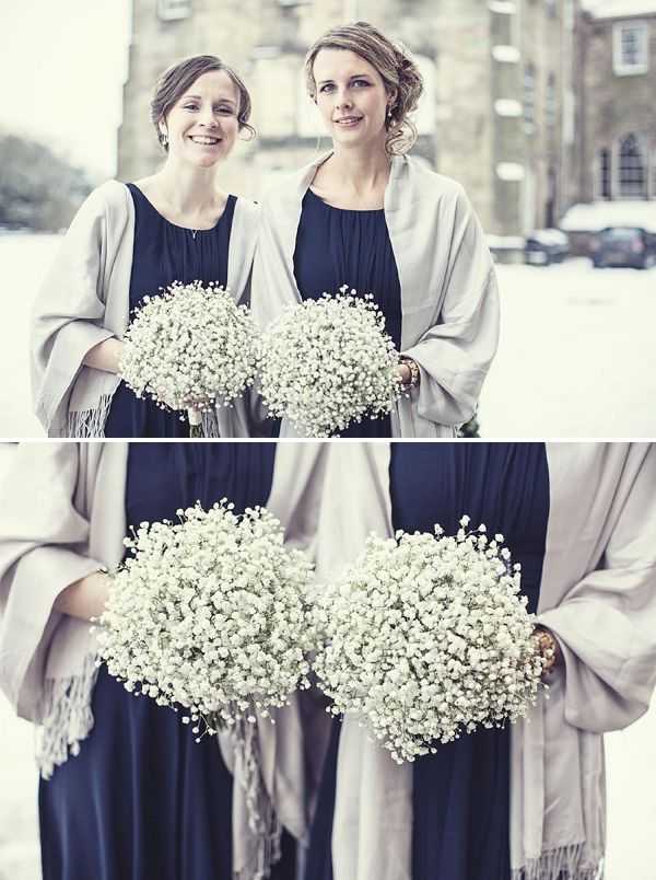 Ripley Castle Wedding | A Darling Navy & Gypsophila Snowy Winter Wedding | Whimsical Wonderland Weddings