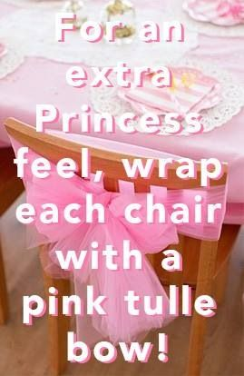 Princess party! Birthday Girl Chair... maybe do this for all the chairs?