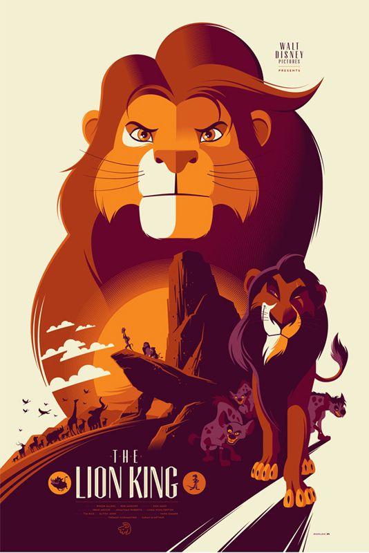 Le roi lion. | 21 réinterprétations de dessins animés Disney