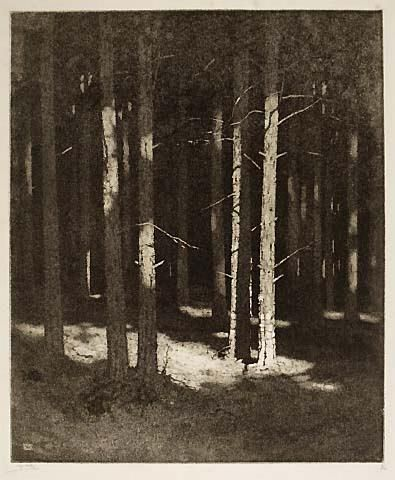 Alfred Hartley, #etching and engraving