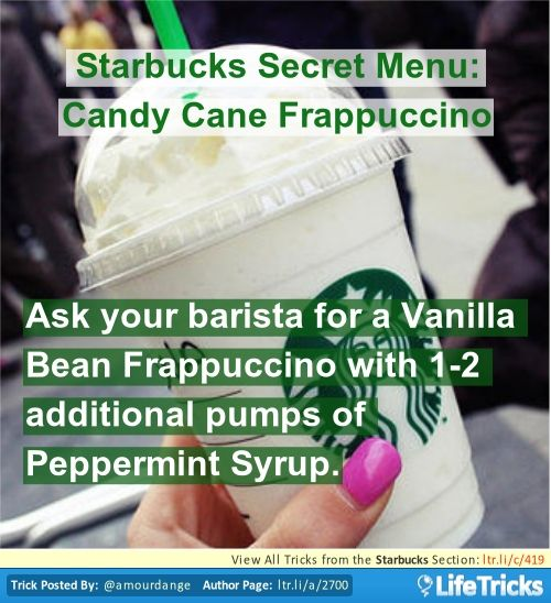 Starbucks Secret Menu: Candy Cane Frappuccino