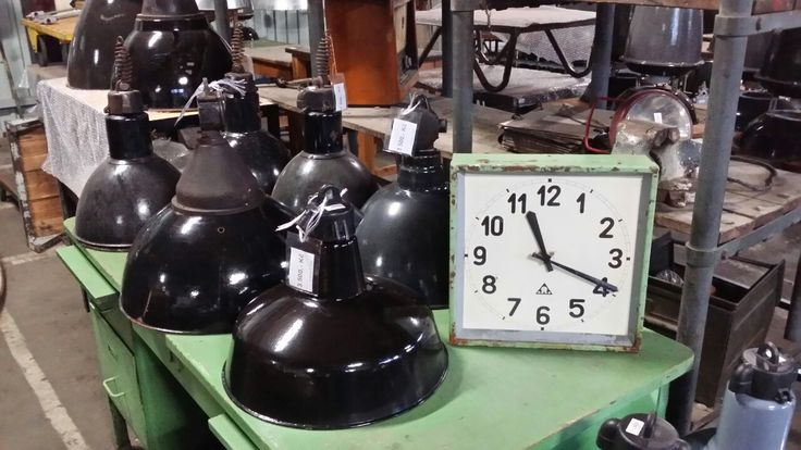 Industrial Lamps and Clock