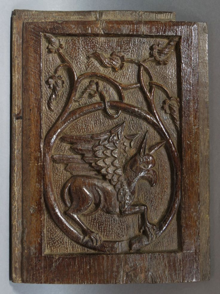 An interesting, late medieval Gothic carved oak panel ...