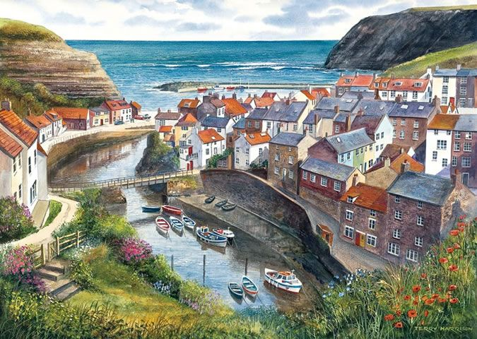 Staithes by Terry Harrison 1000 piece jigsaw puzzle