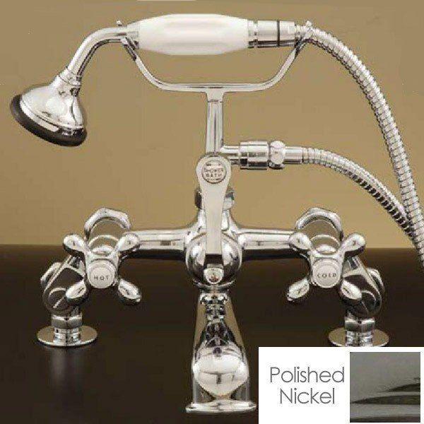 Deck Mounted English Telephone Clawfoot Tub Faucet Clawfoot Tub