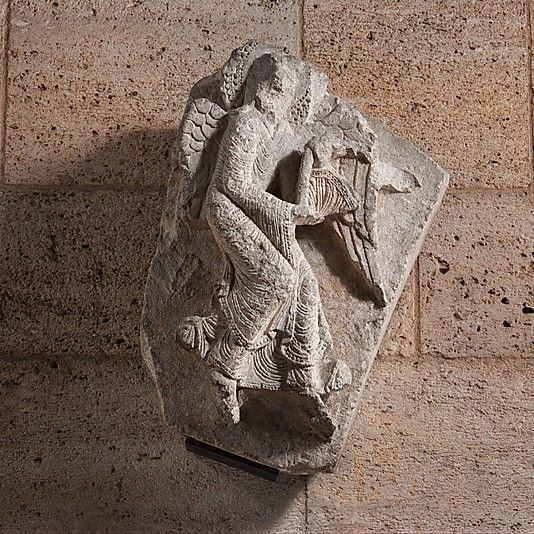 Angel  Date: ca. 1130 Geography: Made in, Burgundy, France Culture: French Medium: Limestone