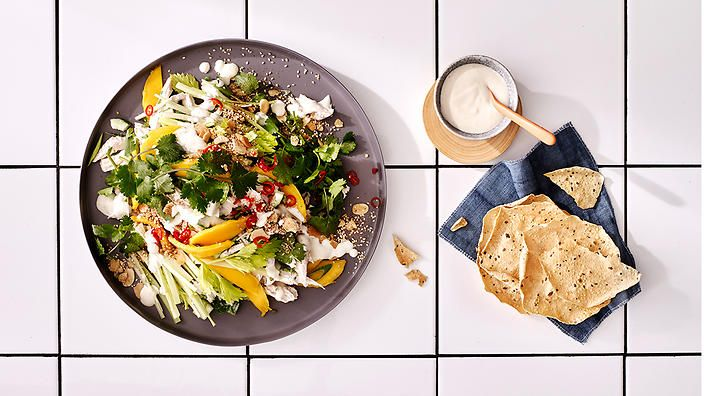 Rachel Khoo learns the secrets to a contemporary Coronation chicken from Margaret Fulton's granddaughter, Kate Gibbs. #rkkitchennotebook