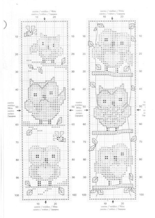 It is an image of Gutsy Free Printable Counted Cross Stitch Bookmark Patterns