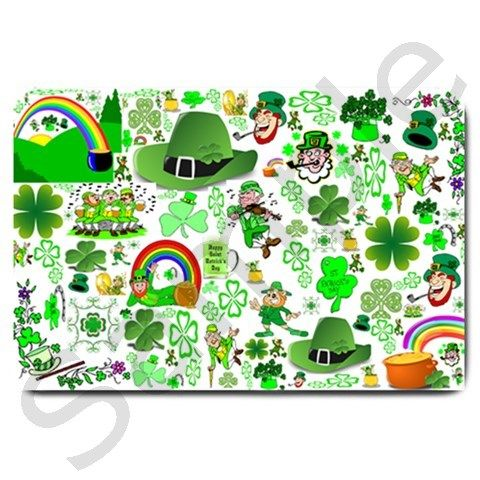 St Patrick's Day Collage Large Door Mat from CowCow
