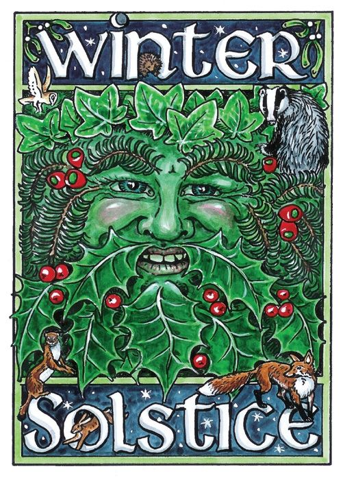 Solstice Green Man for your WINTER Energy space. #aclearplace