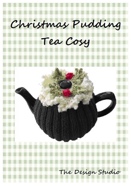 The Design Studio: Christmas Pudding Tea Cosy Hand Knitting Pattern