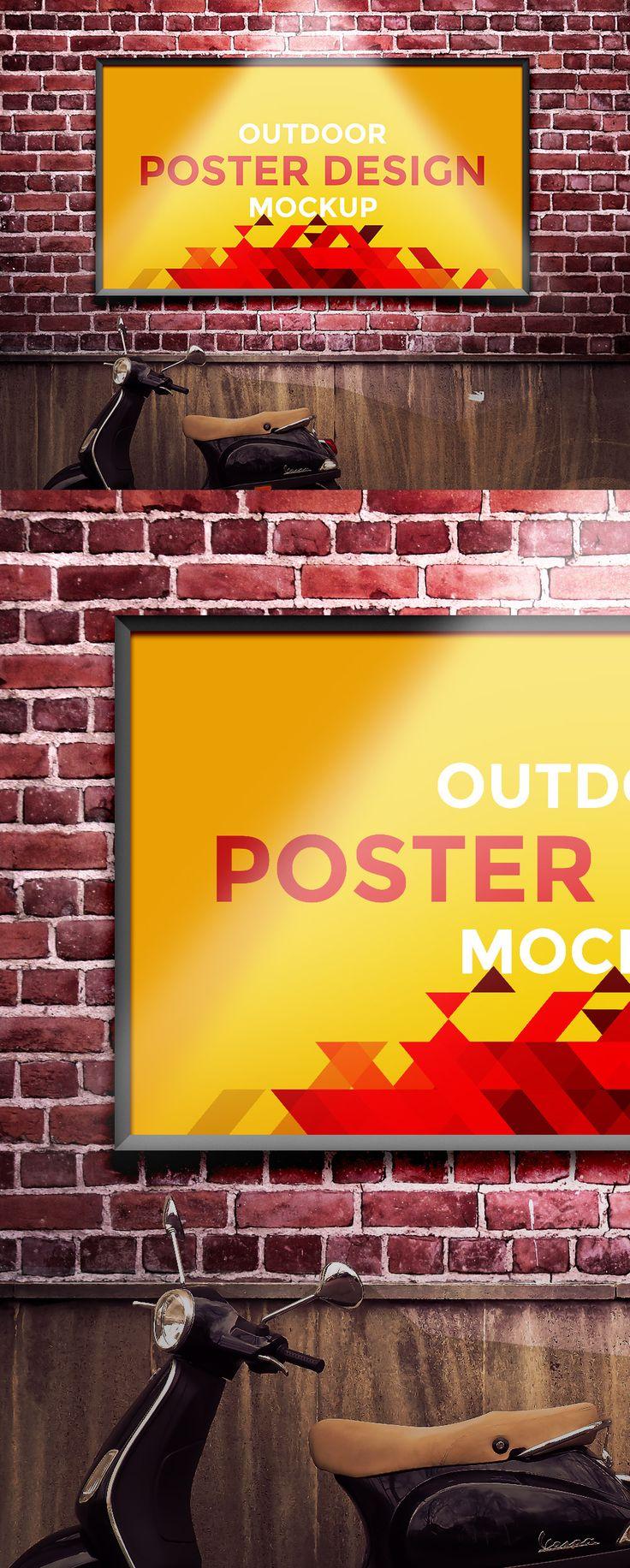 Poster design mockup - Free Outdoor Poster Design Mockup 64 7 Mb Graphics Fuel Free Photoshop Mockup Psd Outdoor Poster Mock Up Pinterest Graphics Mockup And