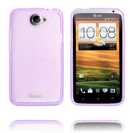 S-Line Läpikuultava (Violetti) HTC One X Suojakuori