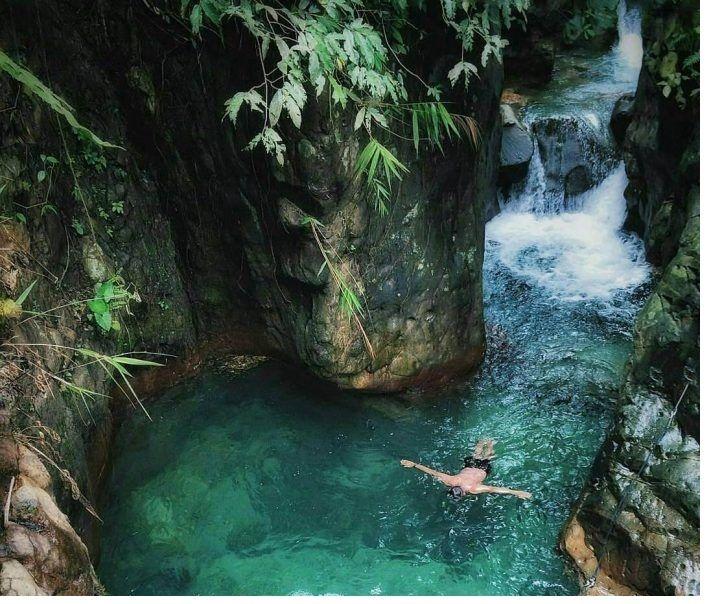 Curug Leuwi Lieuk Air Terjun Pemandangan Taman Nasional