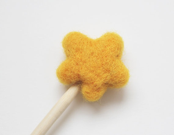 Hand Needle Felted Magic Wand by needlenerd on Etsy