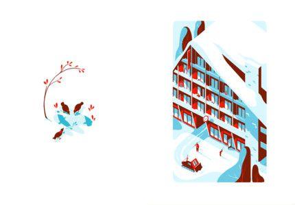 Tom Haugomat & Maylis de Kerangal - Hors-pistes  Editions Thierry Magnier Tiphaine-illustration  #mountain
