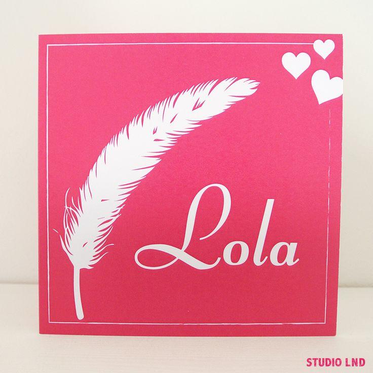 Geboortekaartje Lola 01/02/2016