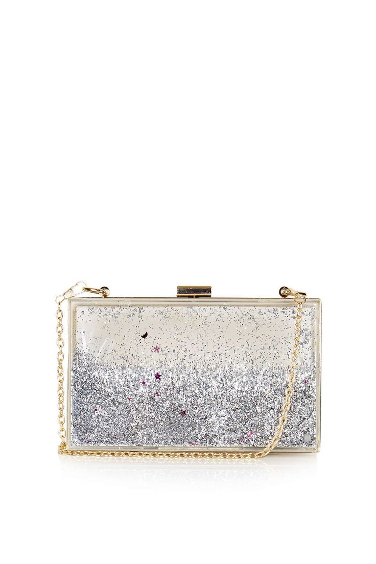 **Silver Glitter Clutch Bag by Skinnydip - Bags & Purses - Bags & Accessories - Topshop